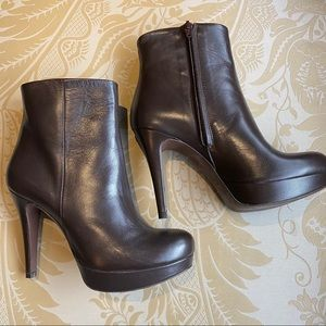 Barney's New York Brown Ankle Boots Size 7